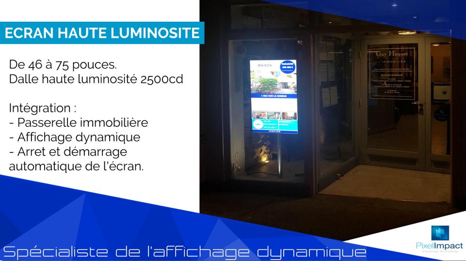 Pixel Impact Affichage Dynamique Ecran Vitrine Haute Luminosite Agence Immobiliere