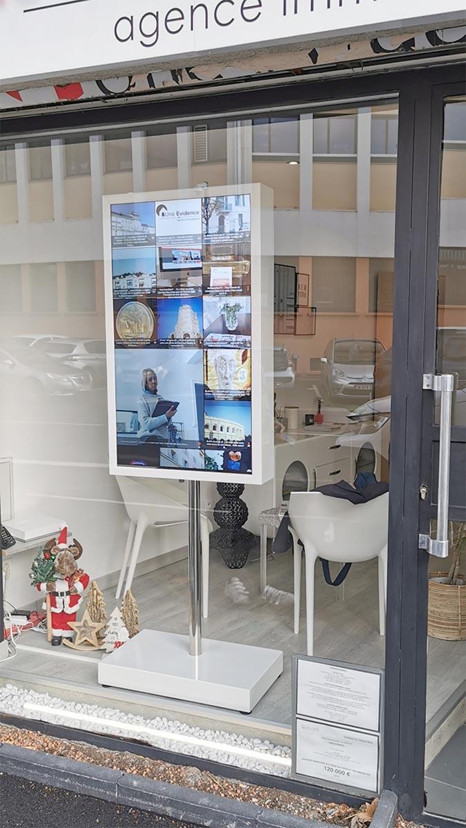 Pixel Impact Affichage Dynamique mobilier écran vitrine
