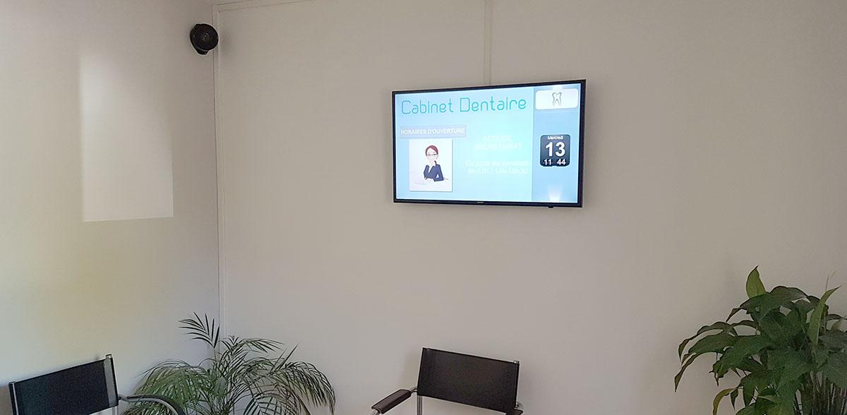 Pixel Impact Affichage dynamique Ecran salle d'attente